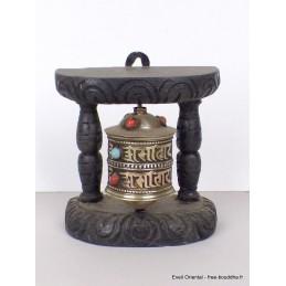 Moulin à prières tibétain mantras pierres 10 cm mou102