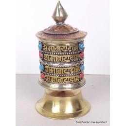 Moulin à prières tibétain de table 10 cm MAPT13
