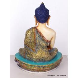 Grande statuette Bouddha peinte à la main GBUDDHA2