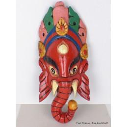 Masque Ganesh en bois fait main 38 CM Objets Ganesh GAN10