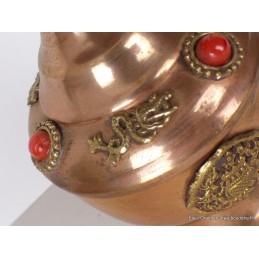 Bhumpa tibétain en cuivre 22 cm Objets rituels bouddhistes bhumpa