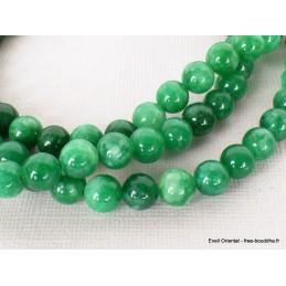 Mala de prières bouddhiste en JADE vert Objets rituels bouddhistes BM27