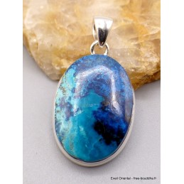 Pendentif Shattuckite dégradé de bleu Pendentifs pierres naturelles PU7.6