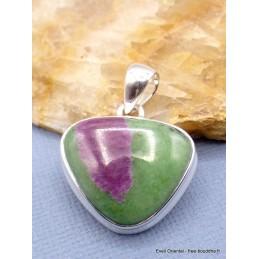 Petit pendentif Rubis sur Zoïzite triangulaire Pendentifs pierres naturelles PU8.3