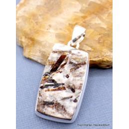Pendentif Astrophyllite brute rectangulaire Pendentifs pierres naturelles PU13.2