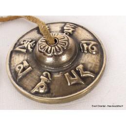 Tingshas bouddhistes 6,5 cm Mantra de Chenrezi TT75A