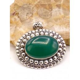 Pendentif Onyx Vert style vintage Pendentifs pierres naturelles PU51.1
