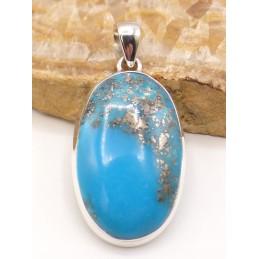 Somptueux Pendentif en Turquoise avec Pyrite Pendentifs pierres naturelles PU54.1
