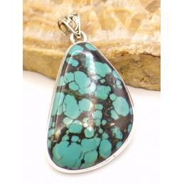 Authentique Turquoise du Tibet asymétrique Pendentifs pierres naturelles PU55