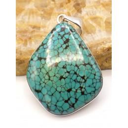 Authentique gros pendentif en Turquoise du Tibet Pendentifs pierres naturelles PU55.1