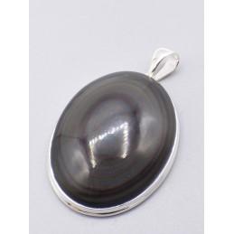 Gros pendentif en Obsidienne Oeil Céleste Pendentifs pierres naturelles pu70