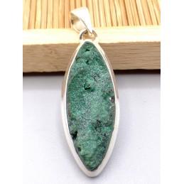Pendentif Malachite Druze forme marquise Pendentifs pierres naturelles PU81.1