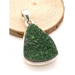 Pendentif Grenat Uvarovite brut Pendentifs pierres naturelles PU84.2