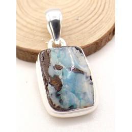Pendentif Opale Boulder bleu clair Pendentifs pierres naturelles PU87.2
