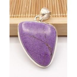 Pendentif Purpurite asymétrique Pendentifs pierres naturelles PU91