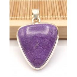 Pendentif Purpurite triangulaire Pendentifs pierres naturelles PU91.1