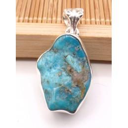 Pendentif argent Turquoise d'Arizona brute Pendentifs pierres naturelles PU92.3