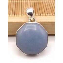 Pendentif Angelite bleue anhydrite hexagonal Pendentifs pierres naturelles PU94.1