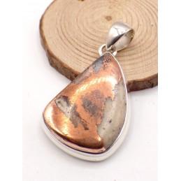 Pendentif Cuivre sur Agate forme goutte (rare) Pendentifs pierres naturelles PU95