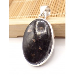 Pendentif en Nuumite oval argent 925 Pendentifs pierres naturelles PU75.3