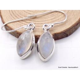 Boucles d'oreilles marquise en Péristérite Boucles d'oreilles en pierres PAC67.2