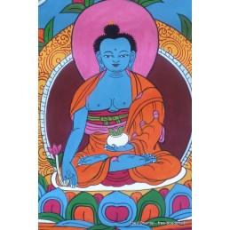 Tangka tibétain peinture Bouddha de médecine TANGBM