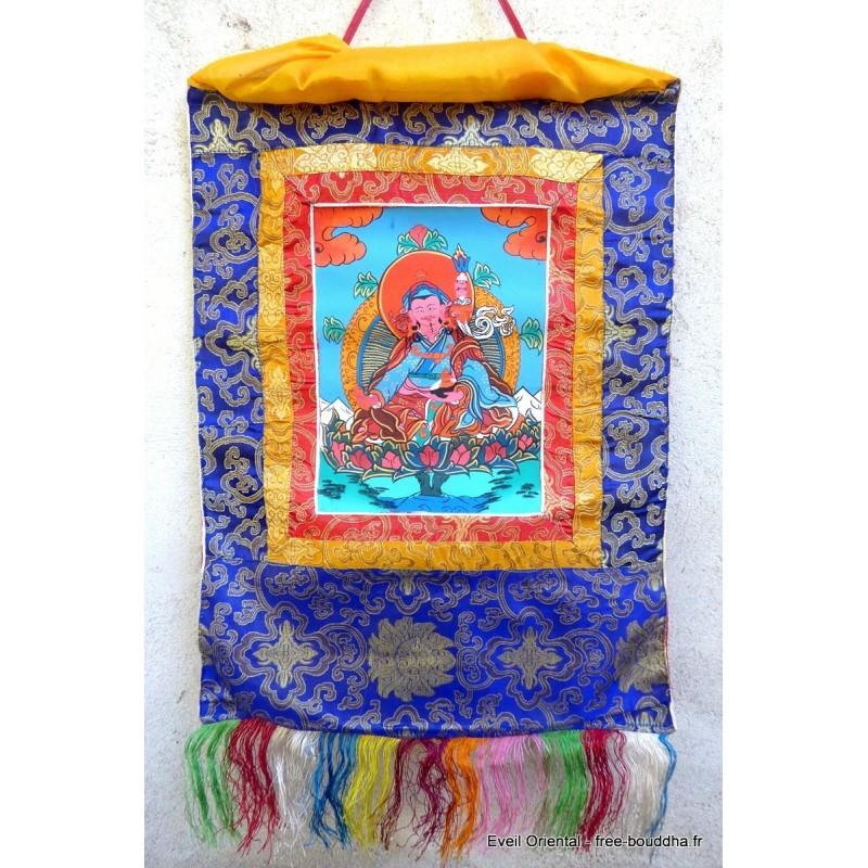Tangka tibétain Guru Rimpotché TANGGR