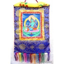 Tangka tibétain peinture Tara Verte TANGTV