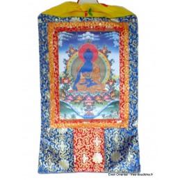 Grand Tangka bouddhiste Bouddha de Médecine 105 cm GTAN1