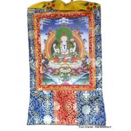 Grand Tangka bouddhiste Chenrezi 105 cm GTAN1