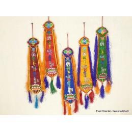 Chopen sambhu bannière tibétaine porte-bonheur Bannières tibétaines CHOP2
