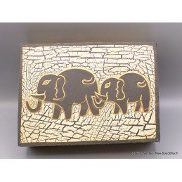 Boîte à bijoux indienne en bois BAT20