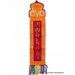 Tenture tibétaine Manjushri rouge et jaune Tentures tibétaines Bouddha MAN11.2