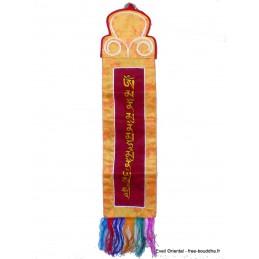 Tenture tibétaine mantra de Bouddha Sakyamouni bordeau TENBK1