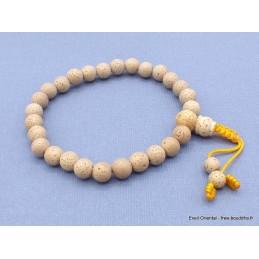Bracelet mala tibétain Graines de lotus blanc Bracelets tibétains bouddhistes MALALOT