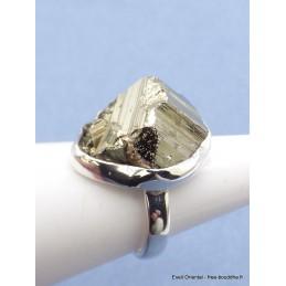 Bague en Pyrite dorée Druze taille 55 Bijoux en Pyrite PU107.2