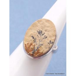 Bague Psilomélane dendritique taille 54/55 Bagues pierres naturelles PU109.1
