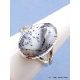 Bague Merlinite 2 anneaux taille 63 Bagues pierres naturelles PU110.1