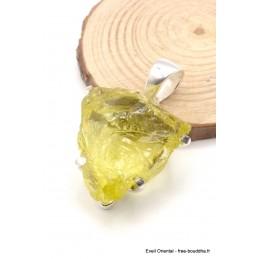 Pendentif Quartz Citron brut triangulaire Pendentifs pierres naturelles PU113