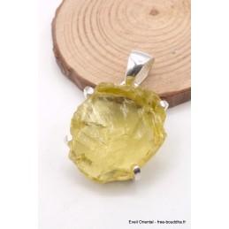 Pendentif Quartz Citron brut oval Pendentifs pierres naturelles PU113.1