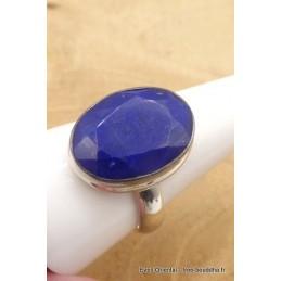 Lapis lazuli facetté bague ovale plusieurs tailles Bagues pierres naturelles TUV60.3