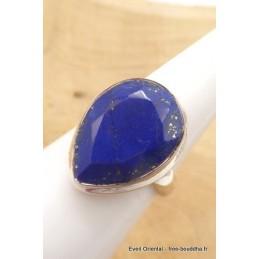 Lapis lazuli facetté bague goutte taille 55 Bagues pierres naturelles TUV60.4
