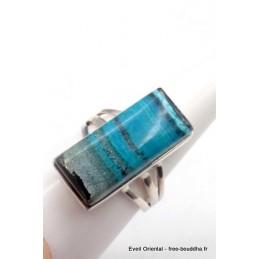 Bague Opale du Pérou bleu gris taille 59 Bagues pierres naturelles TUV62.4
