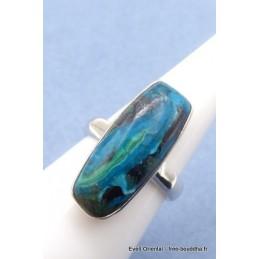 Bague Opale du Pérou rectangulaire taille 55 Bagues pierres naturelles TUV62.5