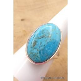 Bague Turquoise Mohave ovale 2 anneaux taille 59 Bagues pierres naturelles TUV58.6