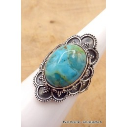 Bague Turquoise Mohave style vintage taille 55 Bagues pierres naturelles TUV58.7