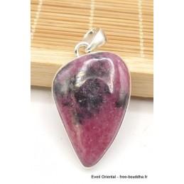Pendentif Rhodonite asymétrique qualité AAA Pendentifs pierres naturelles TUV8.2
