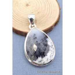 Merlinite opale dendritique facettée pendentif goutte Pendentifs pierres naturelles TUV28.3