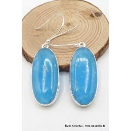 Boucles d'oreilles pendantes en Smithsonite Pendentifs pierres naturelles TUV49.2