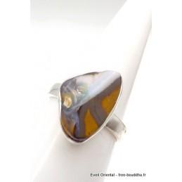 Bague Opale Boulder triangulaire Taille 57 Bagues pierres naturelles TUV63.6